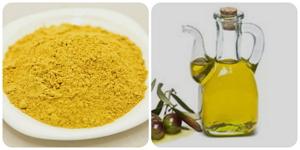 Горчица и оливковое масло